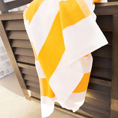 Premium Stripe Pool Towel - YELLOW: 35 X 70, 20 LB./DZ.