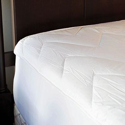 Fitted Mattress Protector - 4.5 OZ/SQY POLY WITH SPANDEX FITTED SKIRT