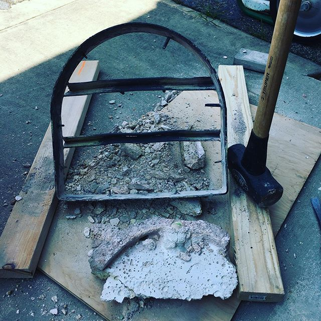 Needed to find the sledge for an assist. All clean. The form is ready to be cast into a door. . . #glasslife #morepower #demolition #studiolife #workout