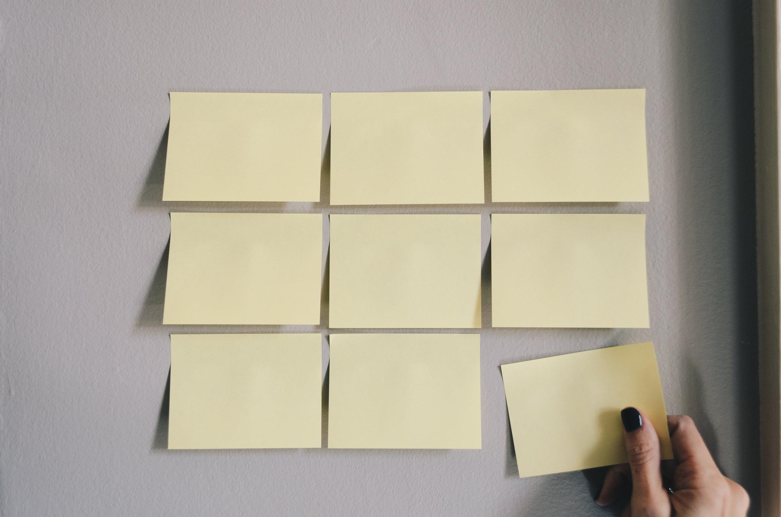 De Post-it methode - Een methode om een presentatie snel van idee naar een kernachtig concept te brengen.