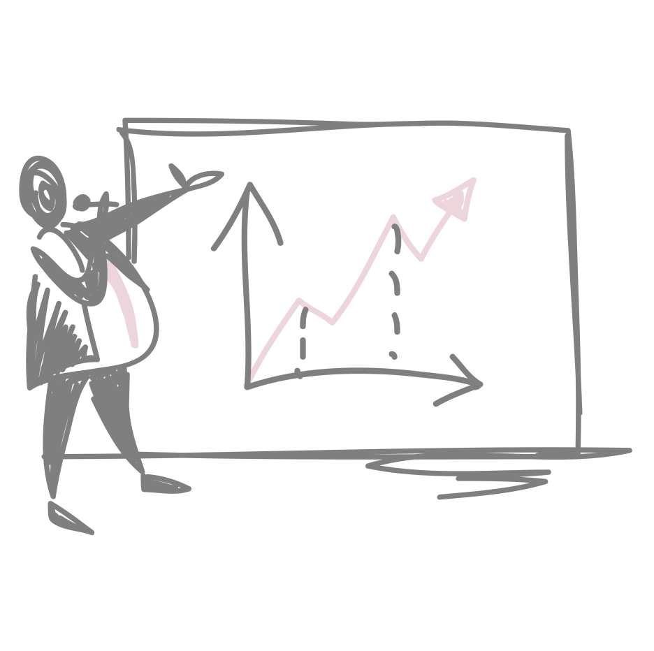 Het maken van visuele Powerpoint, om je verhaal te versterken.