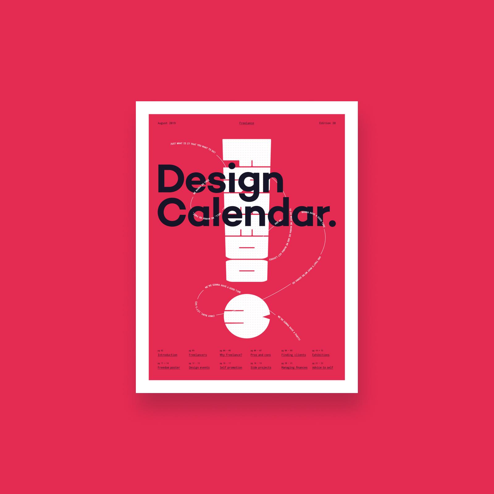 Design calendar Line and Dot Creative