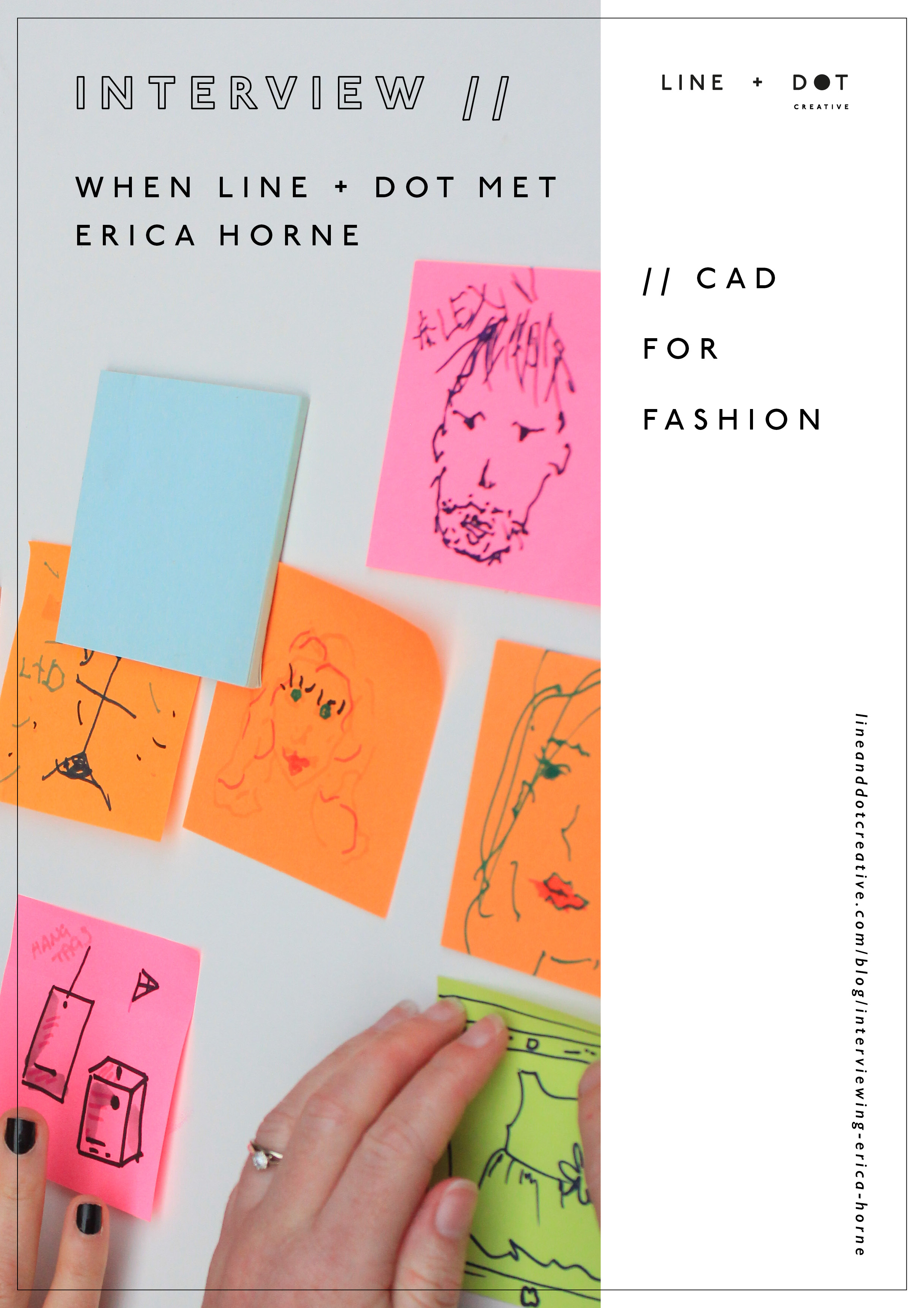 line and dot creative x cad for fashion