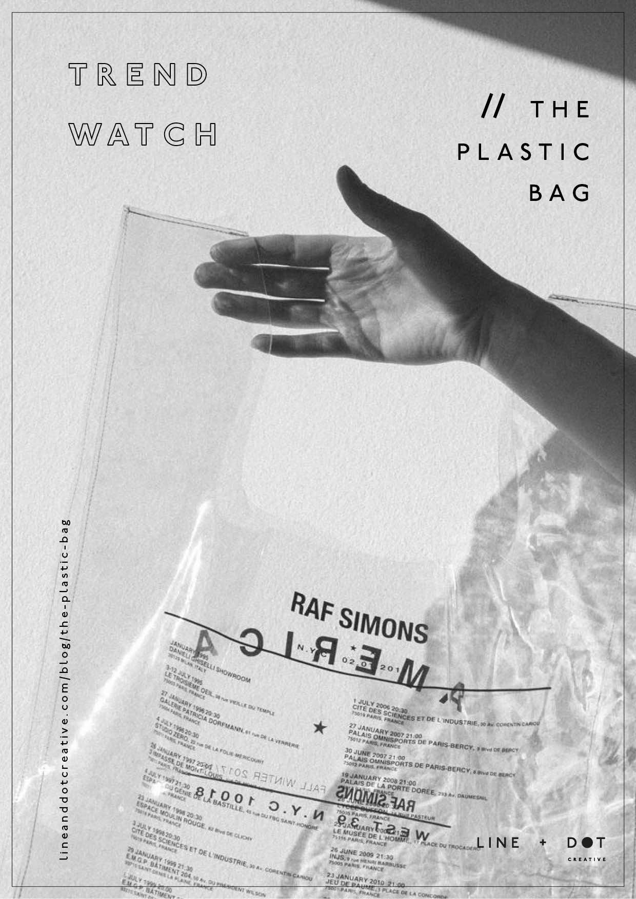 line and dot creative plastic bag trend watch