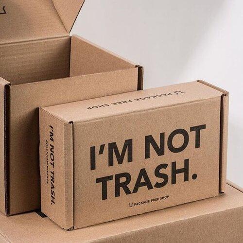 I'M NOT TRASH CARDBOARD PACKAGING BOX