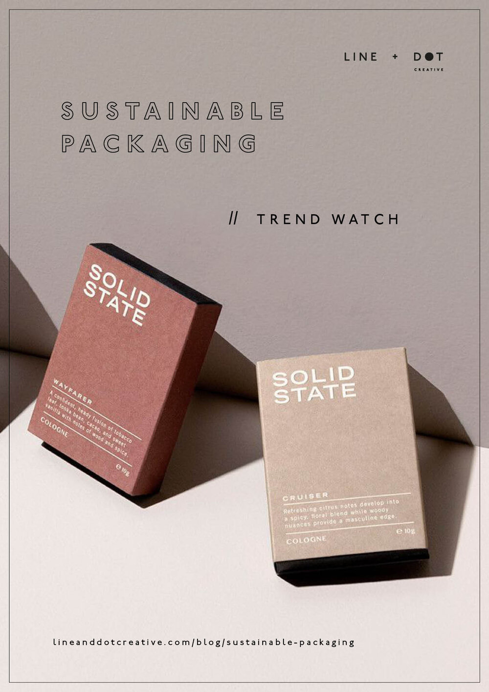 line and Dot sustainable packaging trend watch 2019 Pinterest