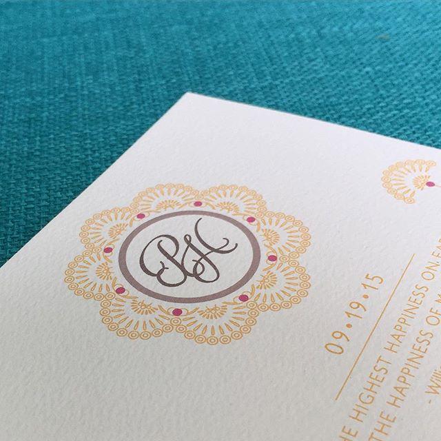 Custom #monogram for a classy bride & groom! #oksheila #custommonogram