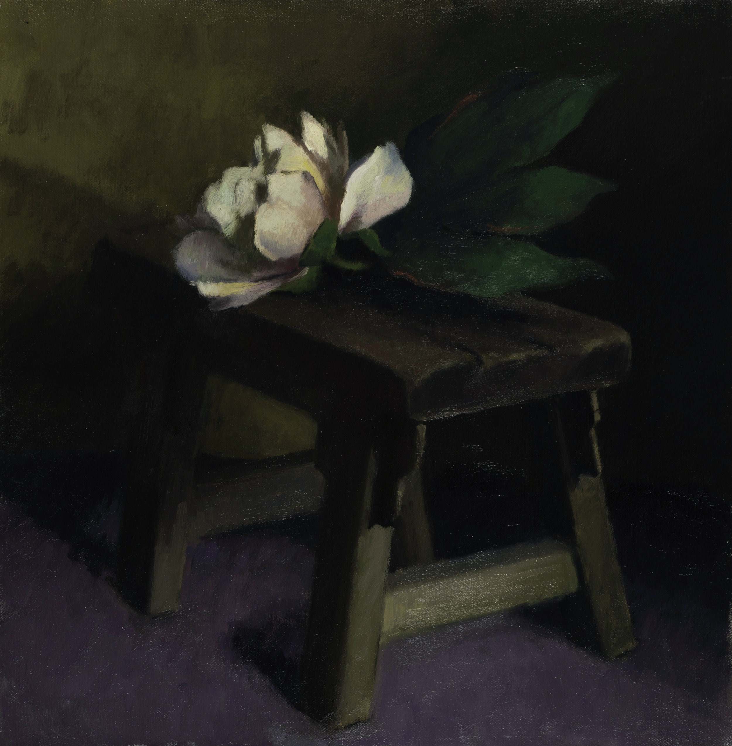 still life of an oil painting from an art class