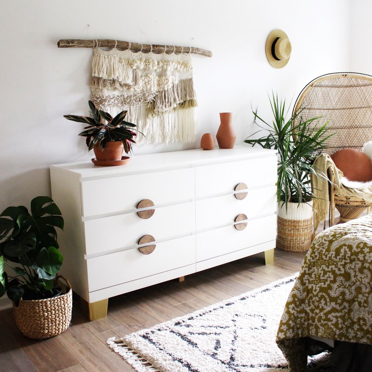 An Ikea Dresser Makeover House On A, How To Put Legs On Malm Furniture