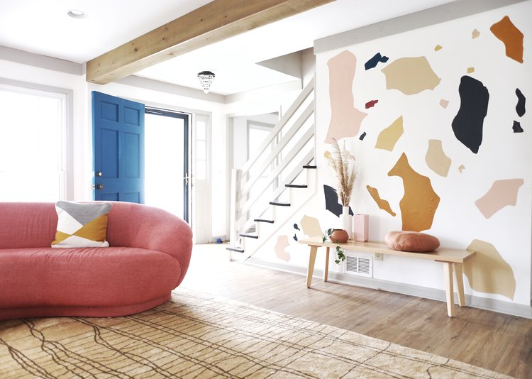 Diy Terrazzo Wall Mural House On A Sugar Hill