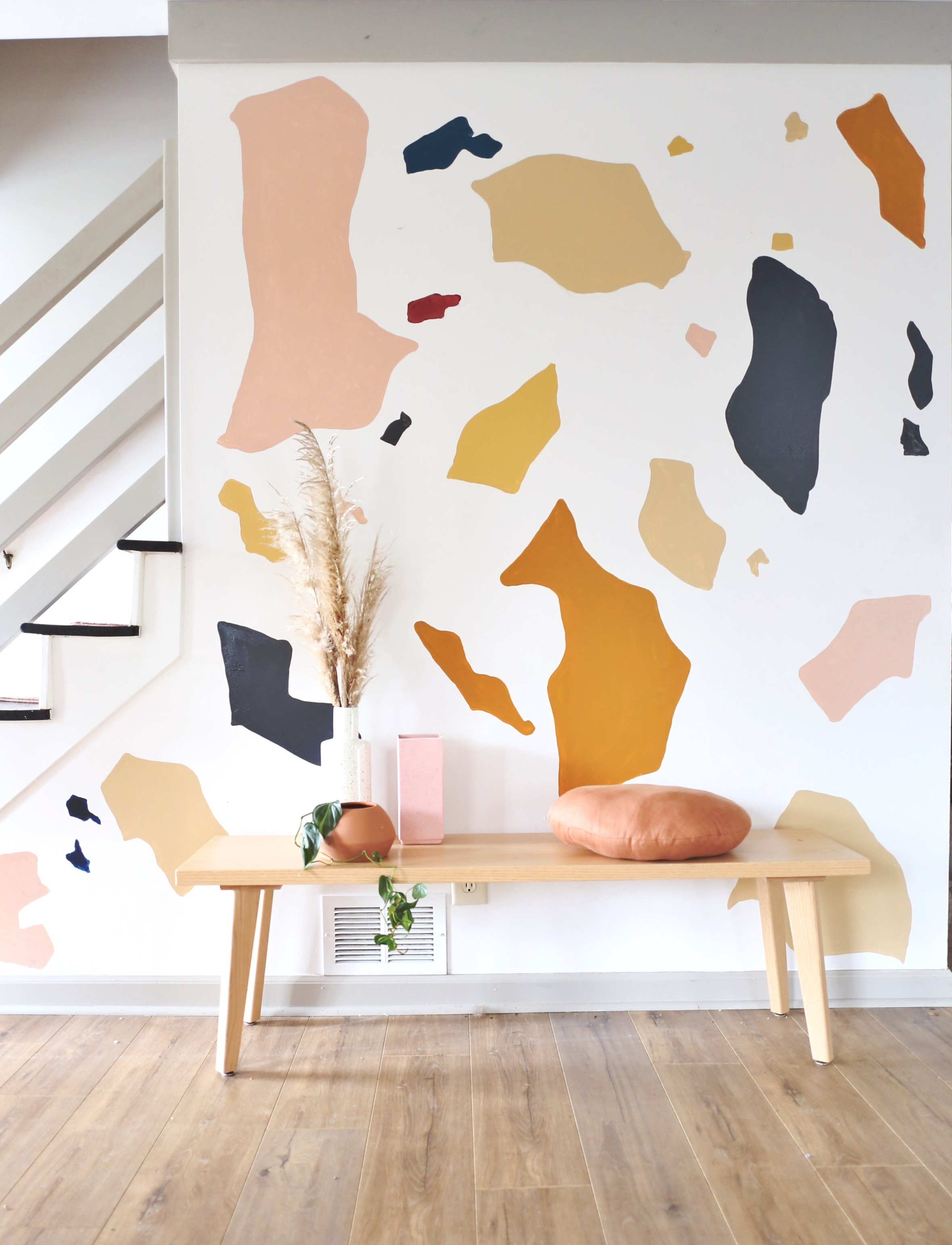 DIY Terrazzo Wall Mural