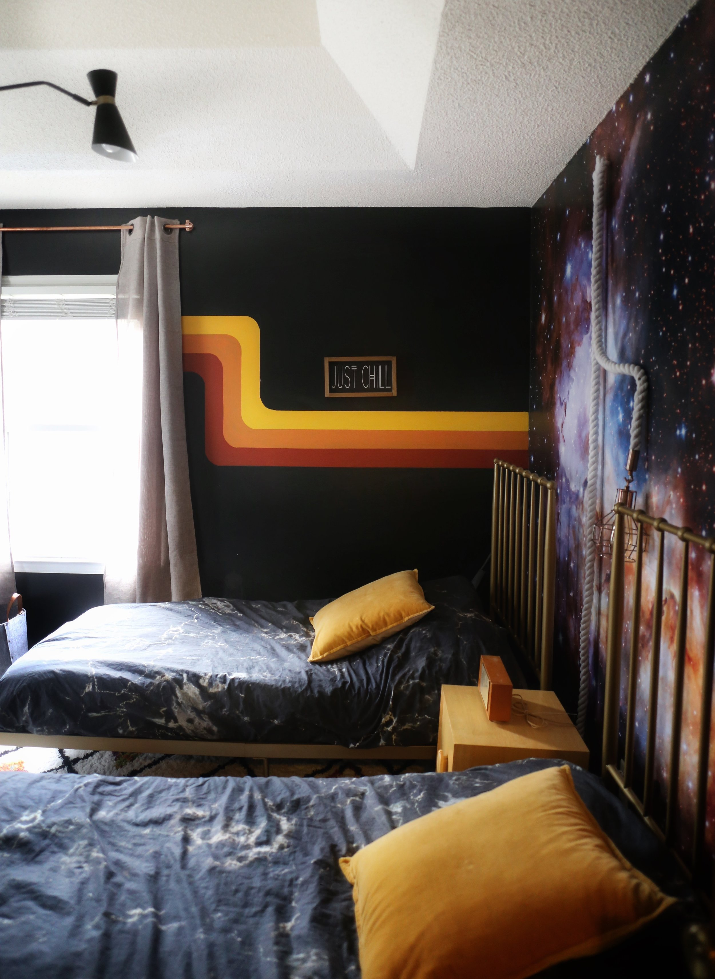 A Retro Space Themed Boys Bedroom — house on a sugar hill