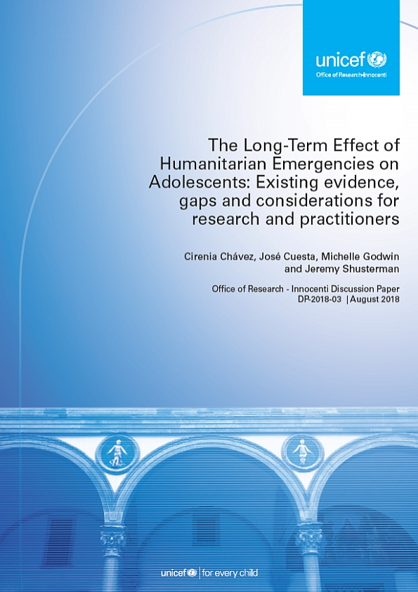 The long-term effect of humanitarian emergencies on adolescents: Existing Evidence, gaps and considerations for research and practitioners - This short paper grew out of discussions at a two-day research workshop focused on famines and adolescents. It explores some of what we do and do not know about the impacts of humanitarian situations on adolescents' lives. Adolescents and their specific capacities and vulnerabilities have tended to be overlooked in the design and implementation of humanitarian responses, including in social protection and further components of such  responses. This paper seeks to bring these questions to the attention of researchers, policy makers and practitioners in order to address identified priority gaps; build on existing knowledge; invest in better evidence generation; and include adolescents in research and response efforts in meaningful ways. Such improvements to humanitarian responses would assist in developing more inclusive efforts that consider all ages in the child's life-course; aim for more sustainable well-being outcomes and help meet core commitments to children in these settings.