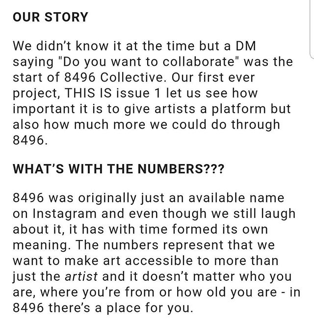 8496 Collective's website has had a bit of TLC ❣ You can read about how we formed, what we're REALLY about, events that are coming up and our past projects! Be sure to always check the blog as our writers frequently share their works. Link in bio ⬆️