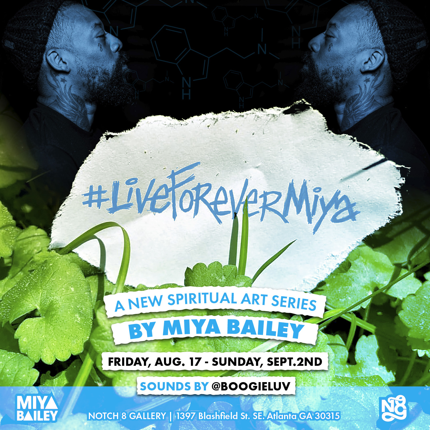 Live Forever Miya - A new exhibition by Miya Bailey exploring spirituality.August 17- September 2, 2018