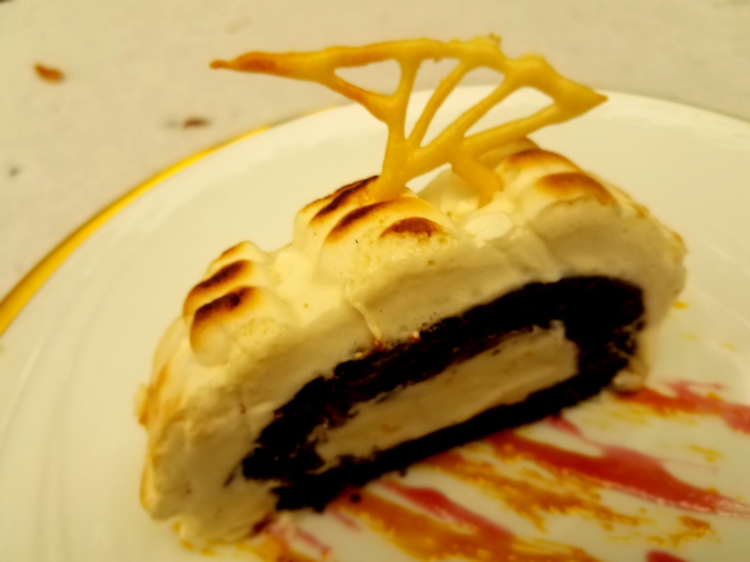 Plant-Based Baked Alaska with Amaretto Pulse Meringue