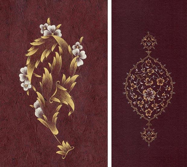 Lutfiye Depeler, L. The bending leaf, 10-15,5 cm, white and fine gold, 2014 / R. Rosette, 8-18 cm, fine gold and white gold, 2015 / Courtesy of the Artist