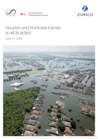 Cover of Houston and Hurricane Harvey: A Call to Action where the value of the Infrastructure CPC™ and Infrastructure Enhancement CPC™ made their global debut.