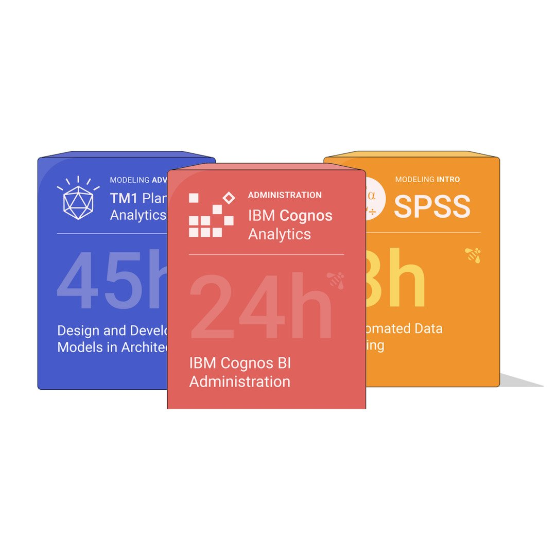 """Data analytics training courses in IBM Cognos Analytics, TM1 Planning Analytics, and SPSS"""