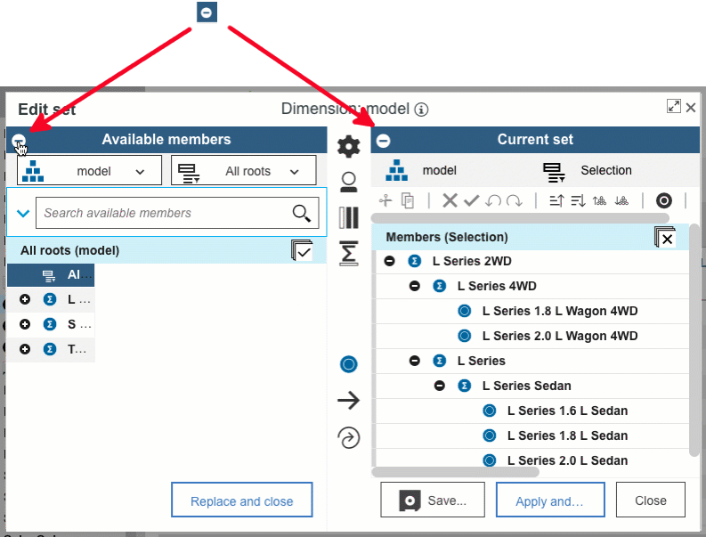 Updates to Planning Analytics Version 2.0.52 Set Editor