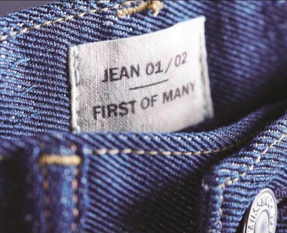 Foto: @evrnu - primeiro jeans da Levi's feito a partir de roupas descartadas
