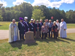 Pro-Life Ministry Members with Fr. Mike, Deacon Paul, and JGS Knights of Columbus members at Memorial to the Unborn dedication in 2017.