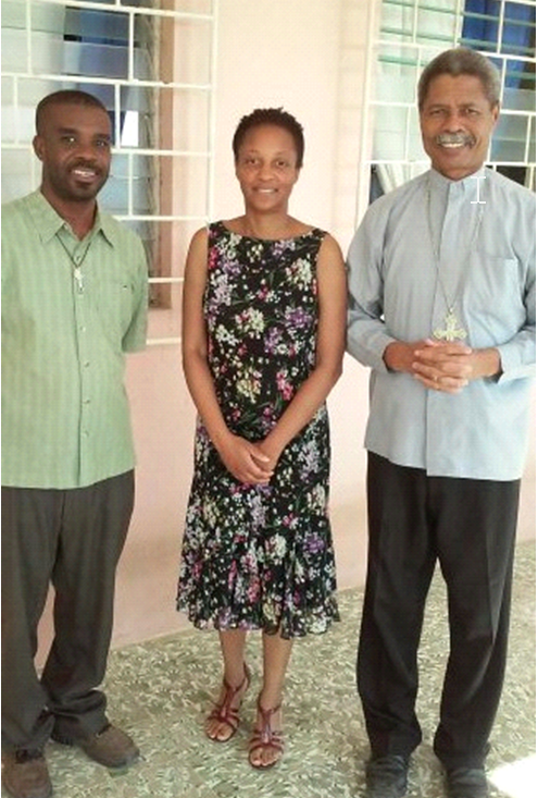 Père Marc Donald Bazile, Gilda Beauzile, Msgr Décoste The Bishop of Diocese of Jérémie