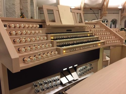 Our Organ… - Our digital-pipe organ installed by Whitesel Church Organs is imported from…