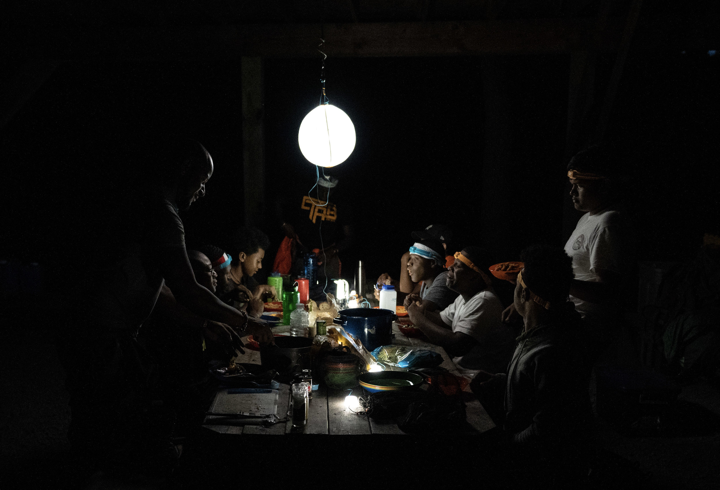 Biolite lamps helped with chow time