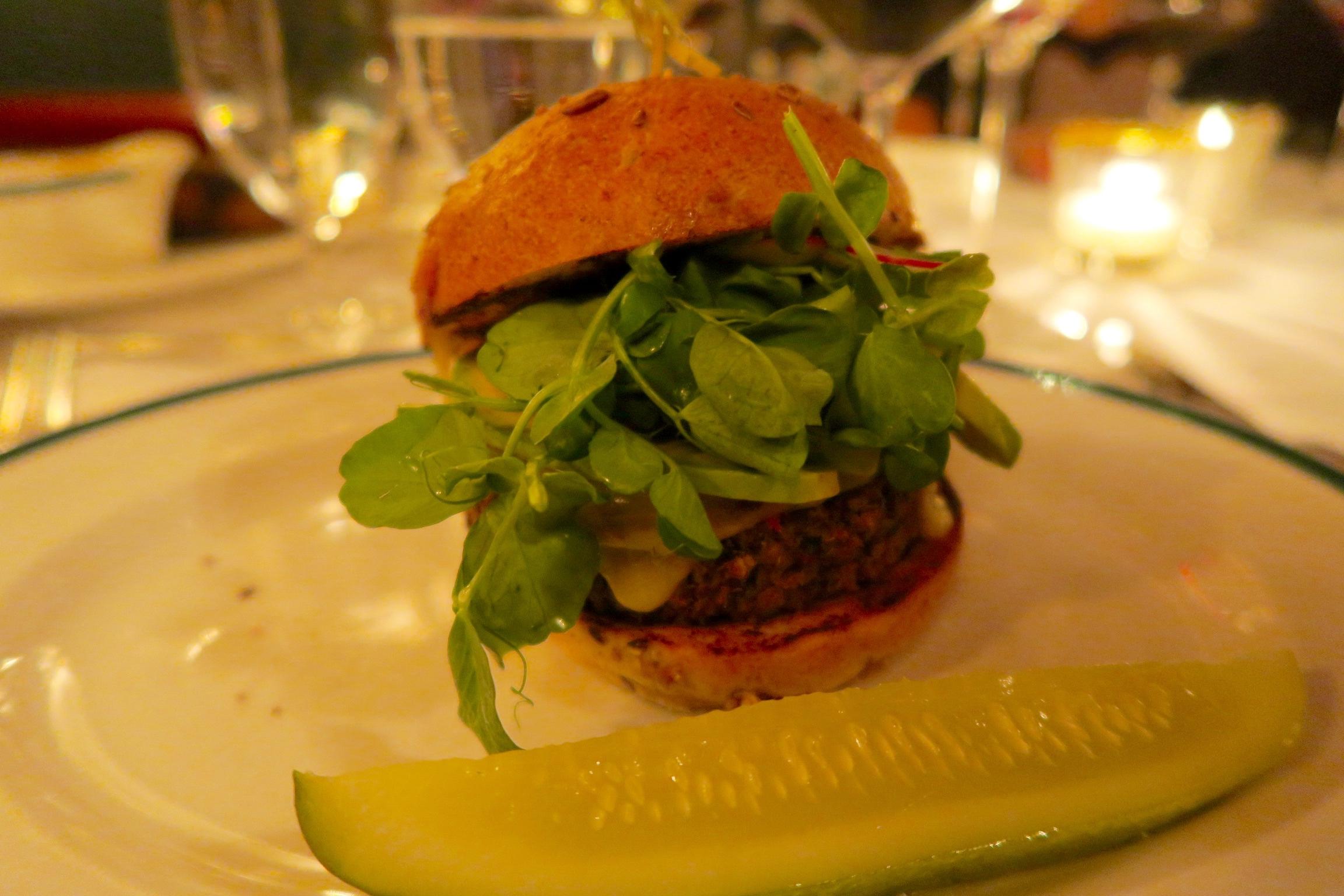 Veggie Burger  Avocado, Heirloom Tomato, Pepper Jack Cheese, and Barbecue Sauce