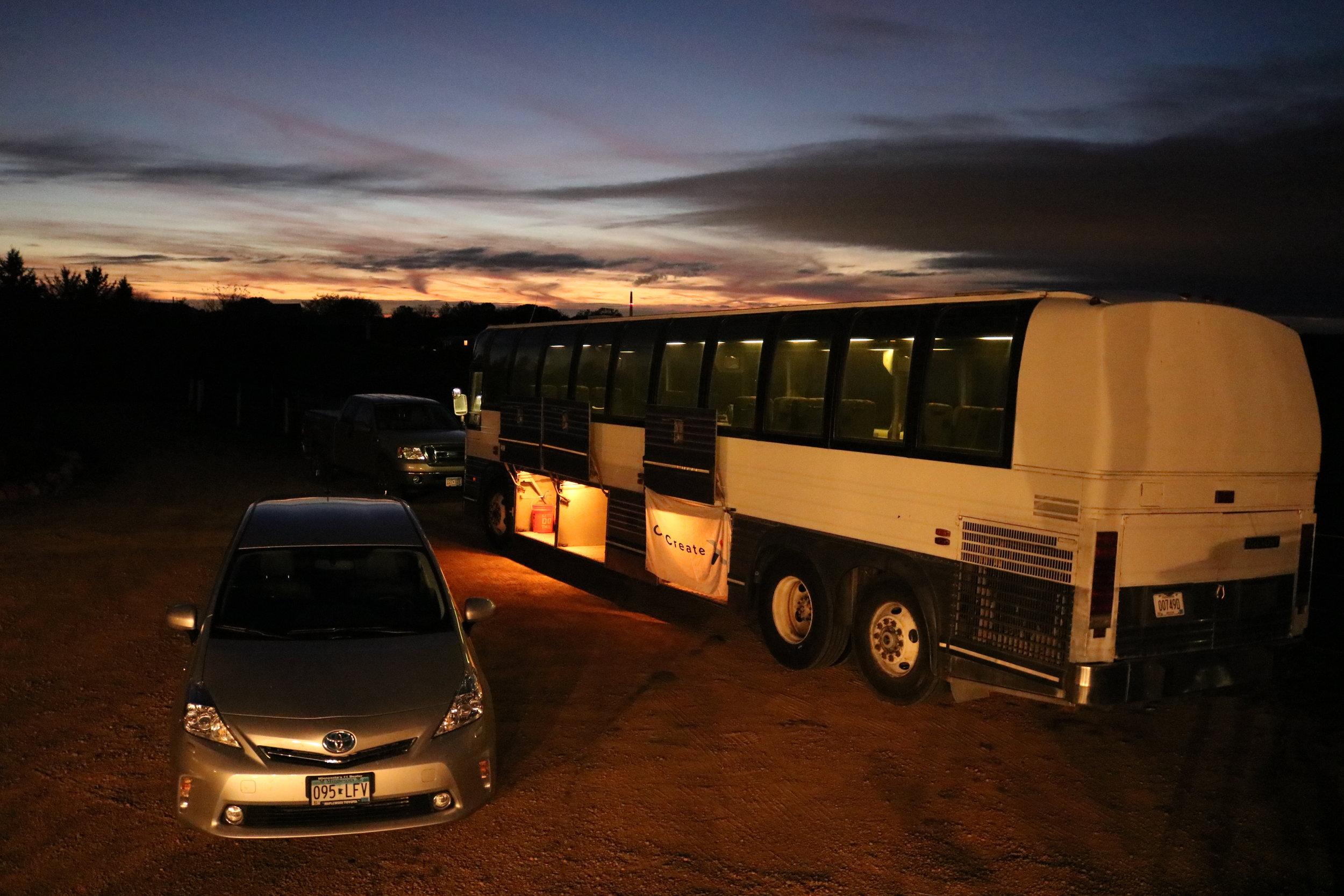 ccx bus at night with car.JPG