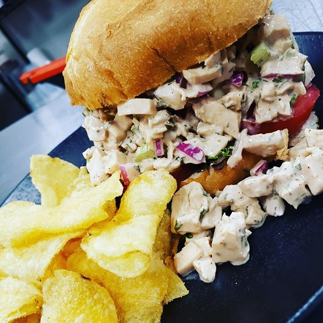 It's Wednesday so we can do Whatever special we want! Today's is a lovely chicken salad sandwich with chips! Perfect cool lunch on this hot day!