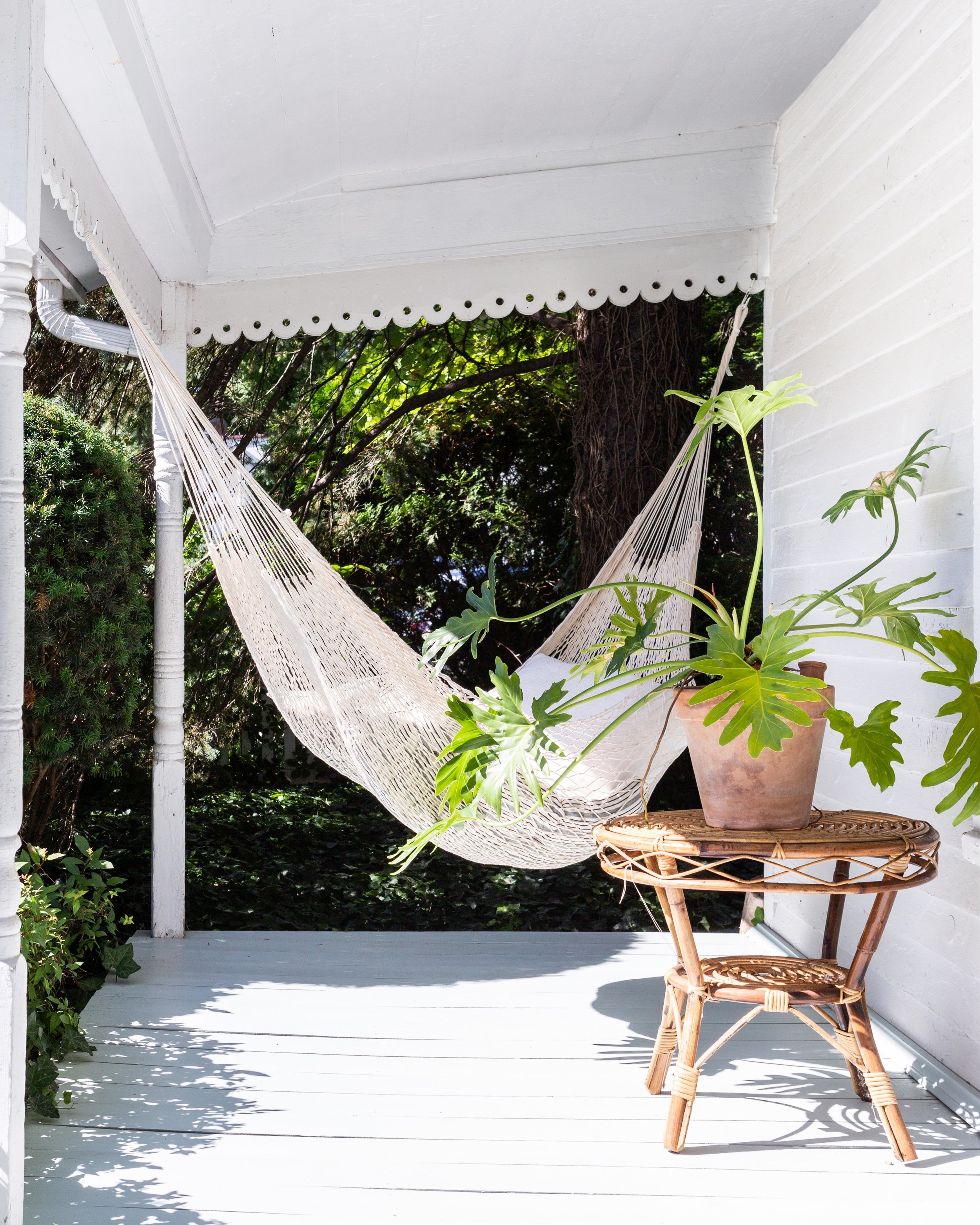 """Prewitt keeps a hammock hung in front of AP Shop. """"A lot of our goods are handcrafted in different places, like Mexico,"""" she says, """"and it echoes that handicraft aspect of our business."""""""