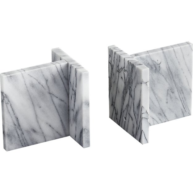 Set of 2 Endiron Marble Bookends $39.95