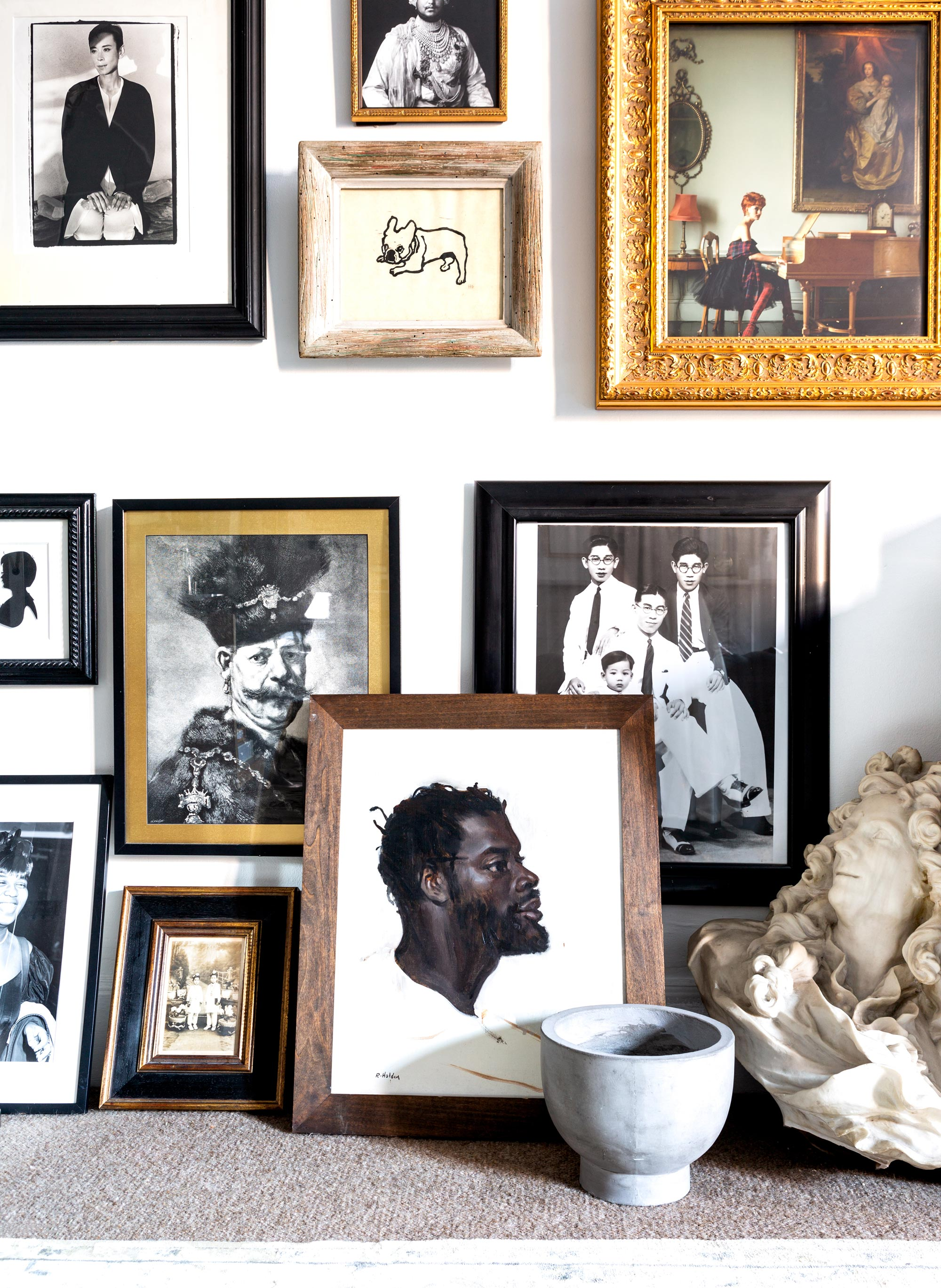 """Teo's collection of art and photography: """"I particularly love portraiture,"""" he says. """"When you look at a portrait, you learn so much about individual people, and cultures, and even just human emotion."""""""