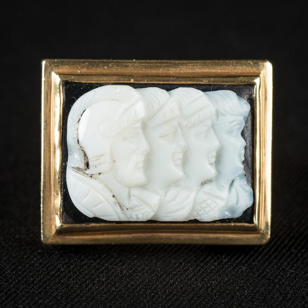 EXCEPTIONAL ANTIQUE CAMEO RING $4200