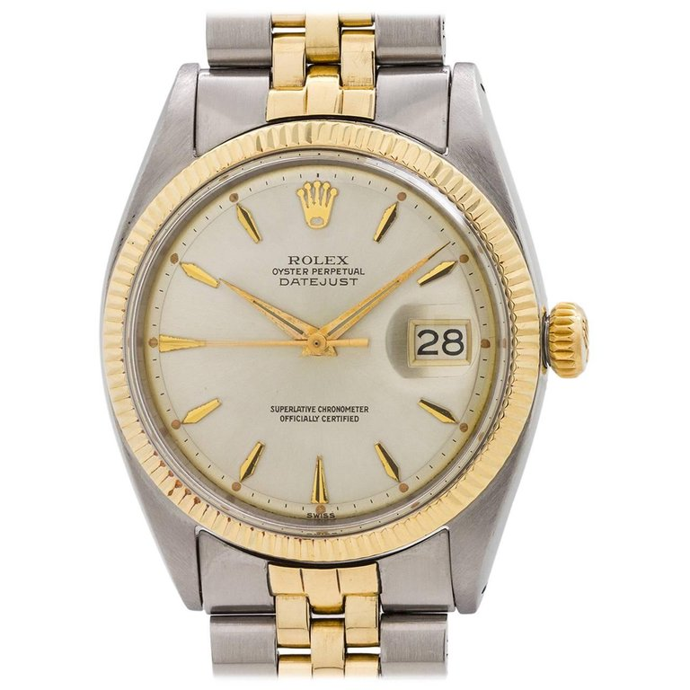 Rolex Yellow Gold Stainless Steel Datejust Automatic Wristwatch, circa 1960 $5600