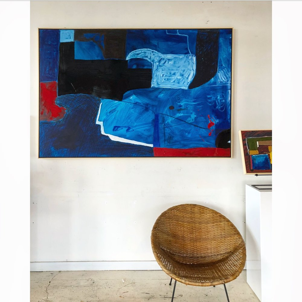 """48"""" x 72"""" oil abstract $5,760"""