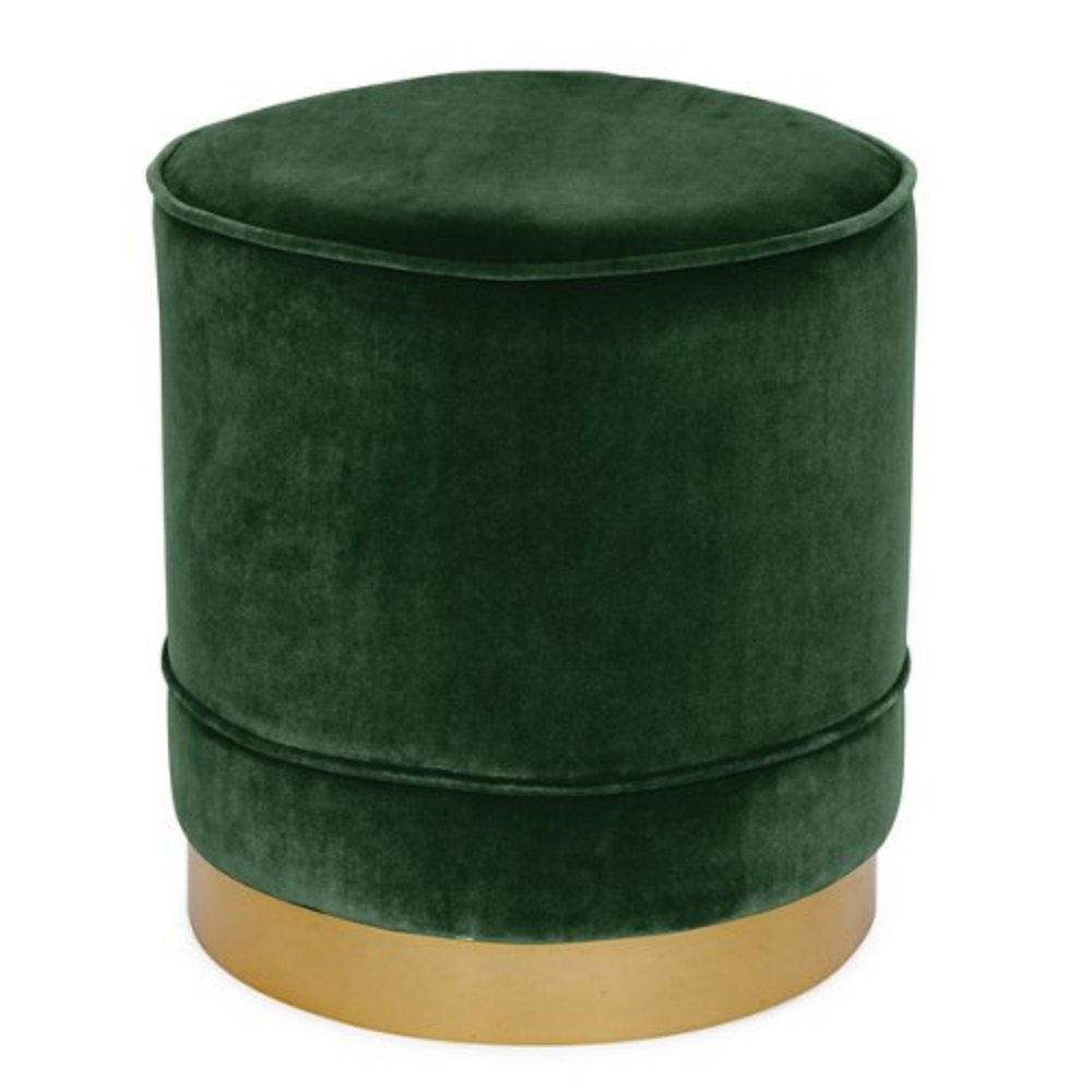 Piper Stool, Emerald Velvet $700