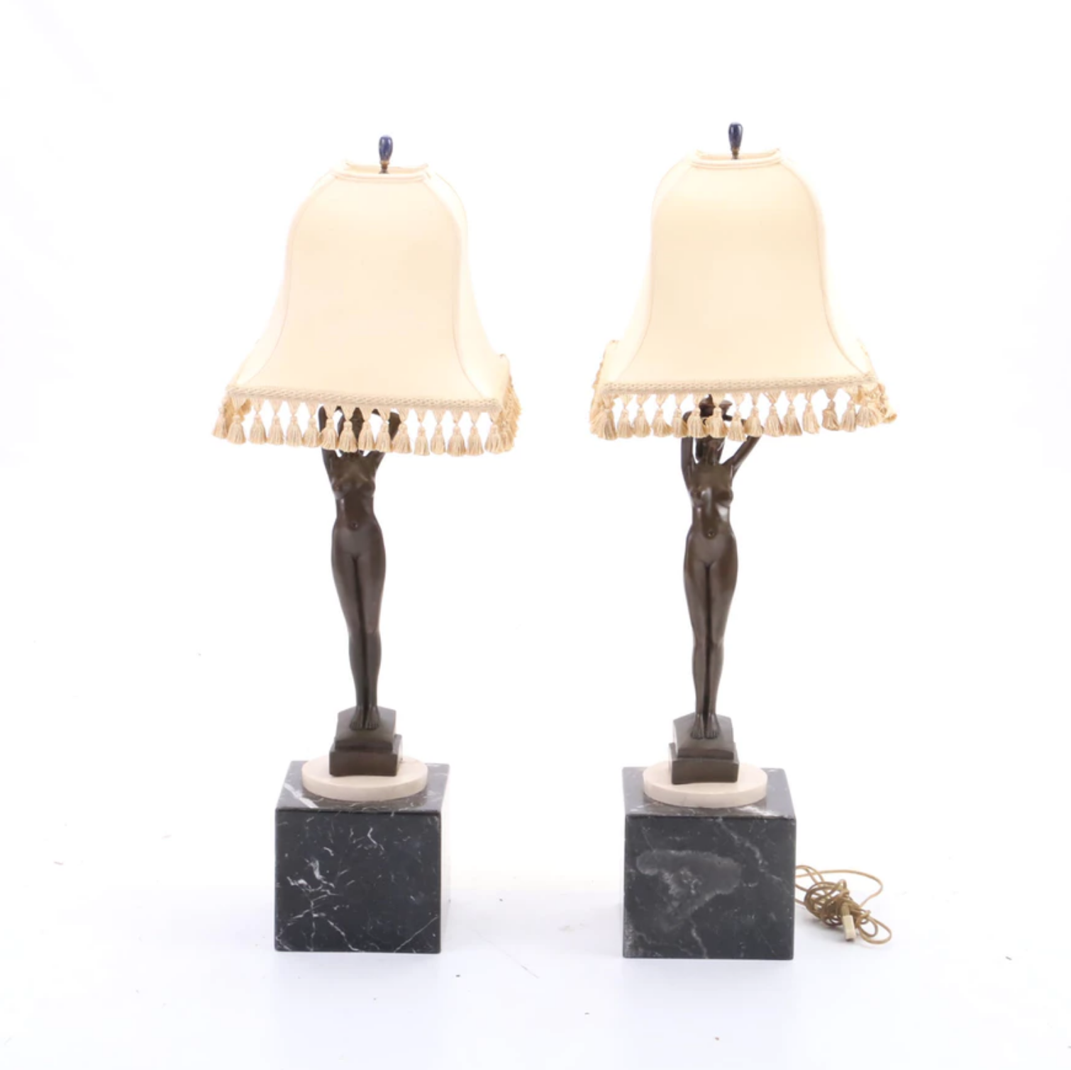 Vintage Reproduction Nude Figural Lamps from $45
