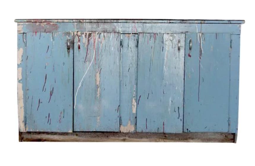 Vintage Painted Work Cabinet $1,375
