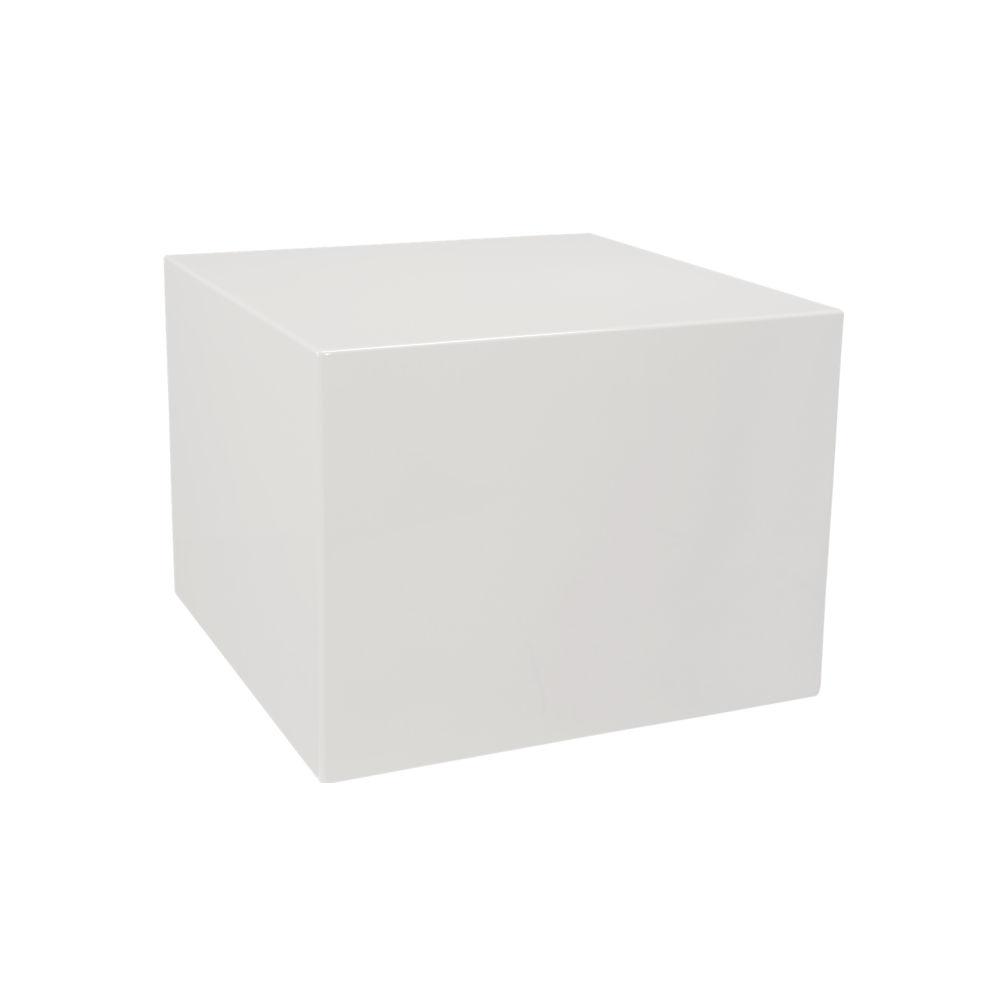 city slicker white side table $219