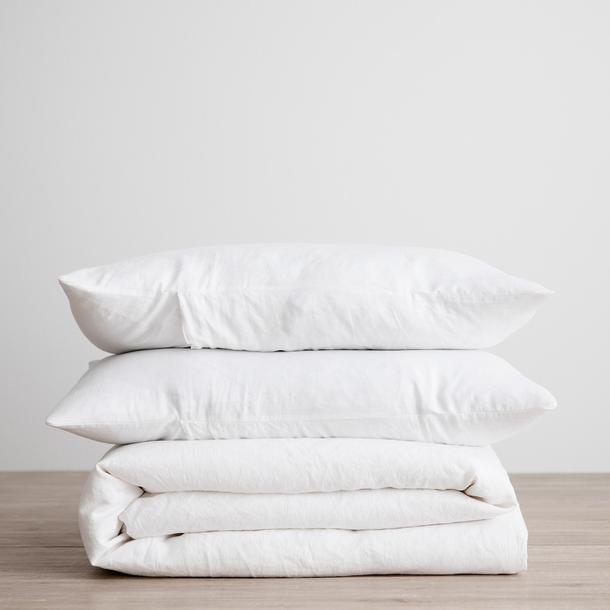 White Linen Bedding from $245