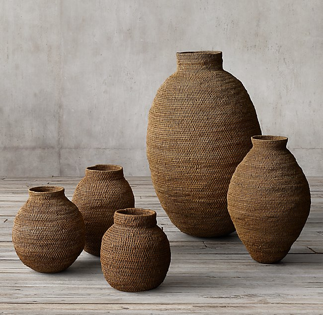 AFRICAN GOURD BASKET - NATURAL from $89