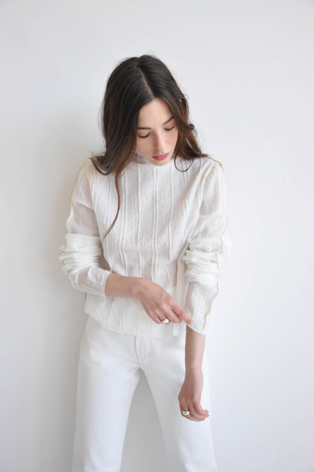 MIES MOCK NECK TOP | STARCH $190