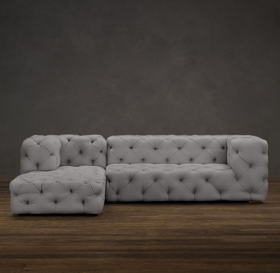 PRECONFIGURED SOHO TUFTED LEFT-ARM SOFA CHAISE SECTIONAL from $7195