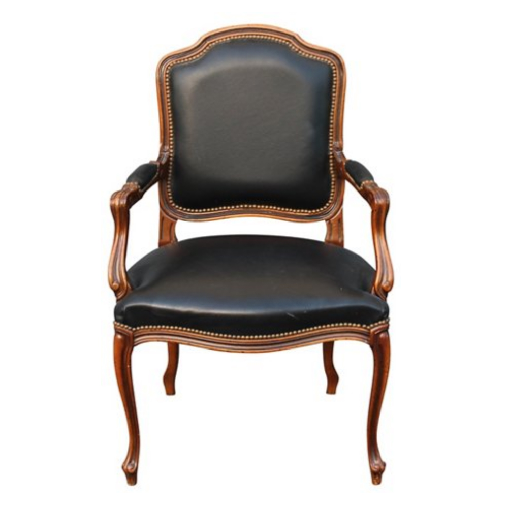 French Louis XVI-Style Walnut Armchair $875