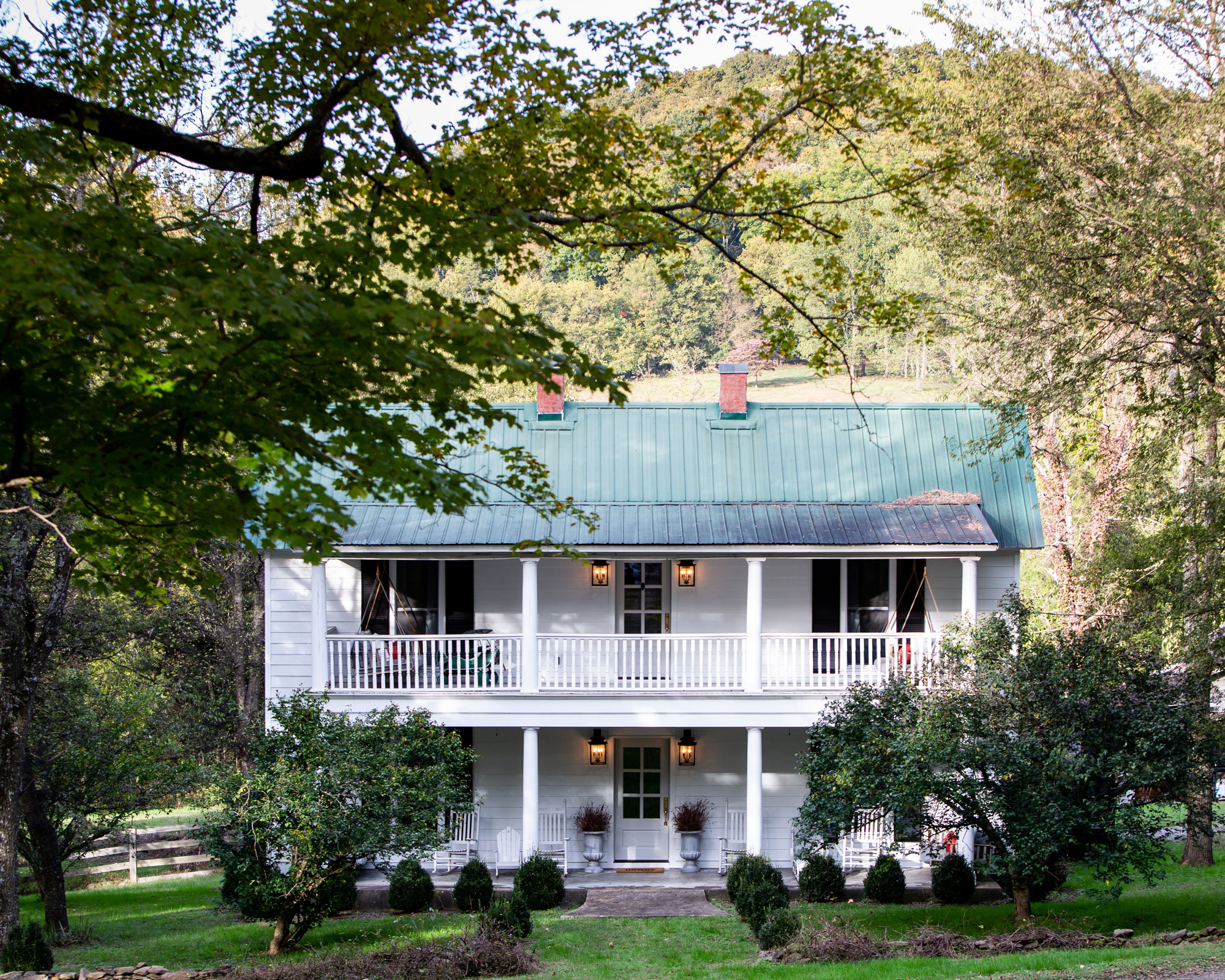 """Holly bought Fox Country Farmhouse off Craigslist. The renovations took about a year and three months. """"It was really challenging,"""" she says, """"but I could see the vision that first time I went."""""""
