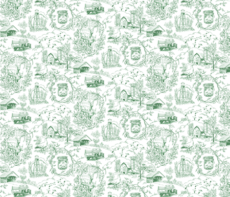 Country Living Toile Green Wallpaper from $60