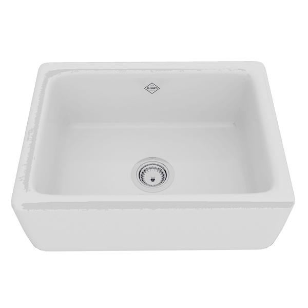 Shaws Original Lancaster Single Bowl Apron Front Fireclay Kitchen Sink